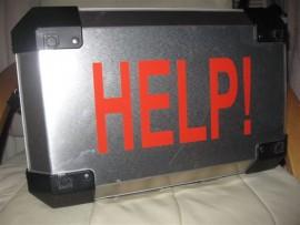 HELP! sticker
